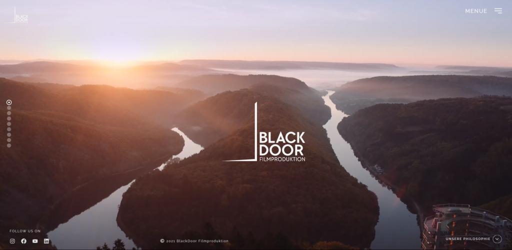 Website BlackDoor Filmproduktion