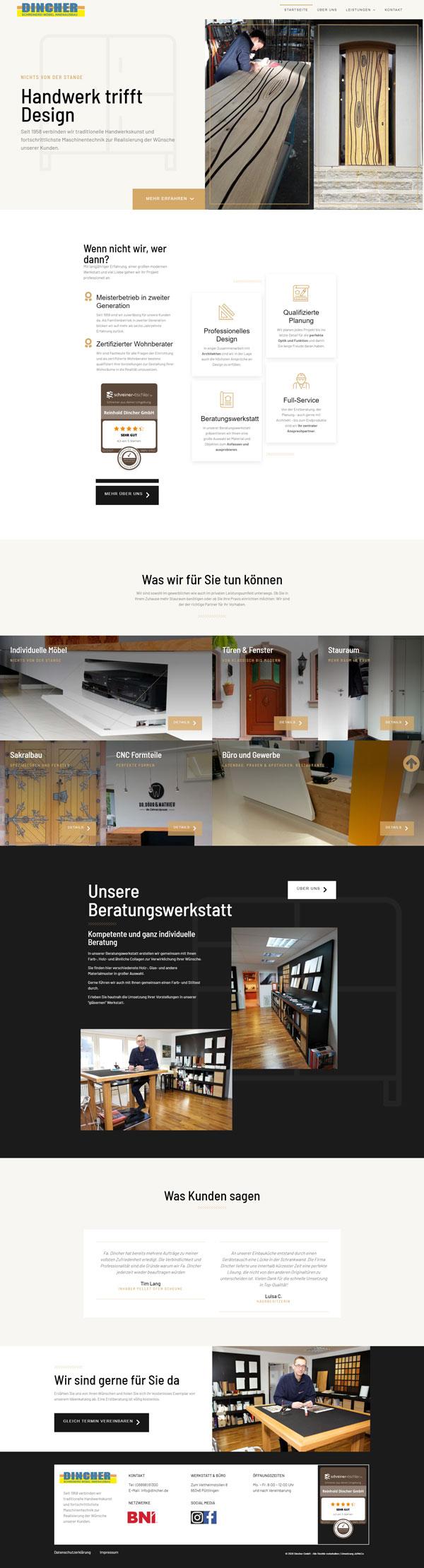 Firmen Website Screenshot