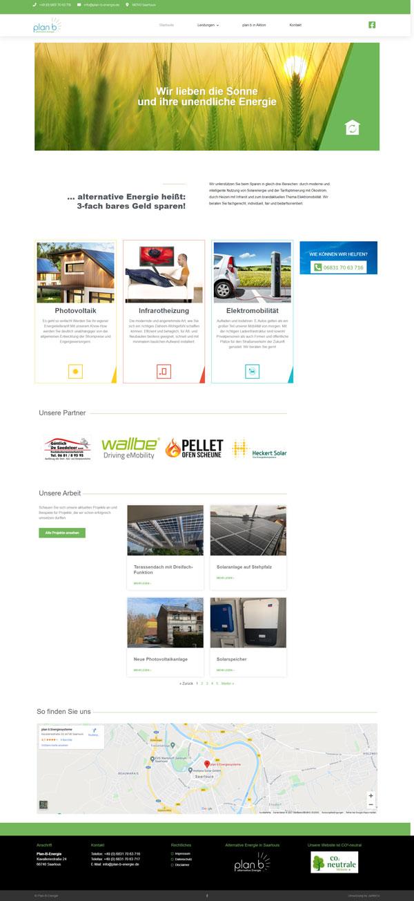 Firmenhomepage, Website, Webdesign